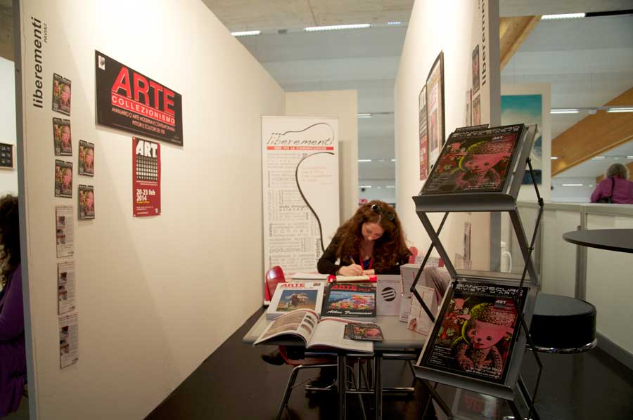 Stand Editoriale ART Innsbruck - liberementi for biancoscuro